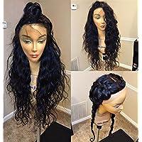 Remeehi lunghi capelli ricci parrucca 100% capelli umani remy brasiliani Full pizzo Baby Naturale Intorno