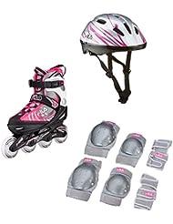 Fila J de One Girl Combo 3 Set - Patines, niña, negro/gris/rosa palo, L