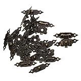 Cerradura de resorte - TOOGOO(R)10 pzs Conjuntos de pestillo de cajas de madera antiguo Cierre de cajas de bronce 3cm largo