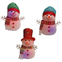 Christmas LED Light Up Cheerful Snowman Figurine Party Decoration