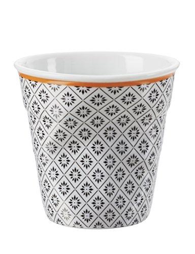 Revol 647648 Froisses Gobelet Espresso Porcelaine Louise 6 cm - Lot de 6