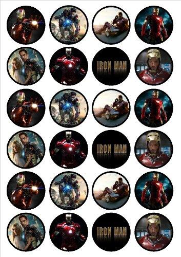 (Iron Man Essbar Premium Dicke süßen, Vanille, Dekorationen aus Papier von Reis für Cupcakes/Dekorationen)