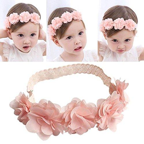 Baby-–, Kopfbedeckung für Kinder-Haarband, Blume Stirnband, Motiv Mädchen mit Blume Hairband ()