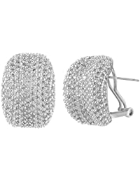 shazé Silver Rhodium-Plated Earring for Women