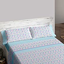 Burrito Blanco - Juego de Sábanas 450 para cama 150x190/200 cm, color azul