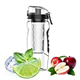 Havenport 1L Fruit Infuser Large Water Bottle Cup BPA Free Plastic with Leak
