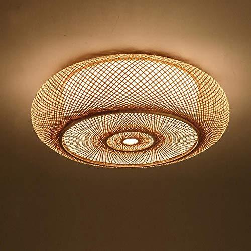 Handgewebte Bambus Wicker Rattan Runde Laterne Schatten Deckenleuchte rustikalen asiatischen japanischen Stil Lampe Schlafzimmer Living Rood,600 * 180cm