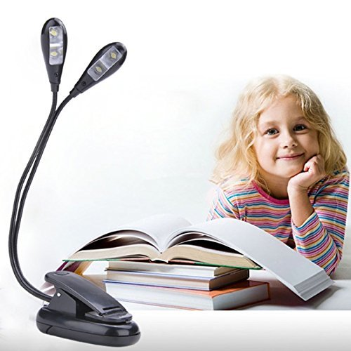 Samplus Mall Reading Study Desk Lights 2 Dual Flexible Arms 4 LED...
