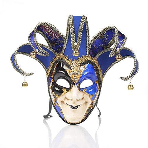 Kostüm Joker Maske - OPENgaga Clown-Maske Halloween Joker Maske Rave Maskenmaske Clown-Kostüm Cosplay Party Maske blau