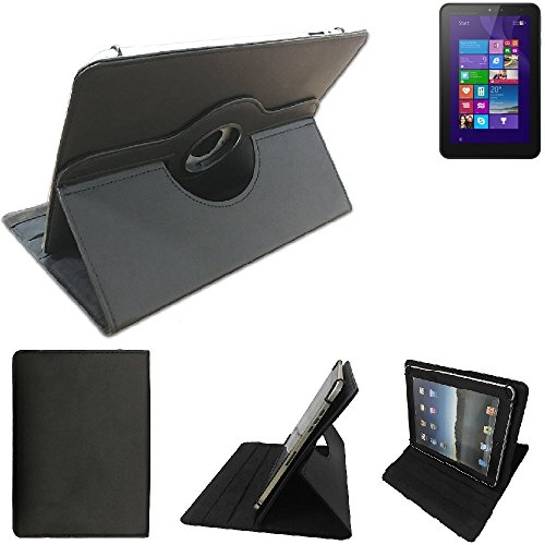 High quality für HP Pro Tablet 408 G1 Schutz Hülle 360° Tablet Case Schutzhülle Flip Cover für HP Pro Tablet 408 G1, schwarz. Tablet Hülle drehbar Standfunktion Ultra Slim Bookstyle Tasche Kunstleder Qualitätsware - K-S-Trade®