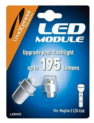 LiteXpress LED Upgrade Modul / 195 Lumen für 2 C/D-Cell Maglite Taschenlampen LXB405 von LiteXpress GmbH auf Outdoor Shop