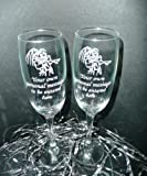 Personalised Engraved Glass Pair of Champagne Flutes Choose From 15 Themes Two Glasses Wedding Anniversary
