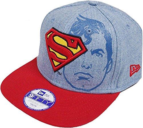 premium selection 9935f c9cf7 Superman DC Comics Azul   Rojo   Amarillo Junior NIÑO Heather Face Superman New  Era Gorra