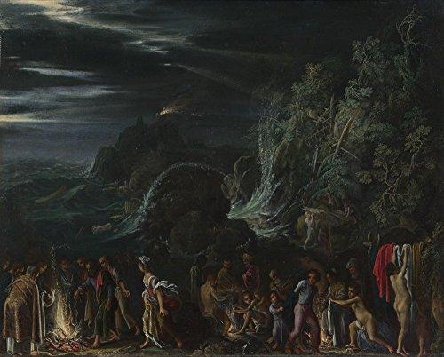 Das Museum Outlet–Adam Elsheimer–Saint Paul on Malta–Leinwand Print Online kaufen (101,6x 127cm)