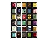 Denglisch Poster / Plakat / Kunstdruck + DinA1 + Best of Engleutsch for Oncatcher von tom bäcker - Das Original + Die 30 besten Denglish Sprüche - Typografie - Englisch - Übersetzungen lustig auf hochwertigem 250 Gramm Papier