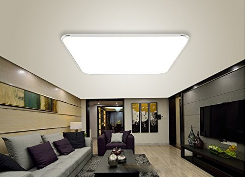 36w kaltwei led modern deckenlampe ultraslim deckenleuchte schlafzimmer k che flur wohnzimmer. Black Bedroom Furniture Sets. Home Design Ideas
