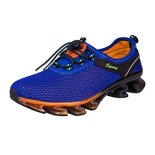 AIni Herren Schuhe 2019 Neuer Heißer Beiläufiges Mode Atmungsaktive Outdoor Wanderschuhe Freizeit Sportschuhe Watschuhe Freizeitschuhe Partyschuhe (45,Dunkelblau)