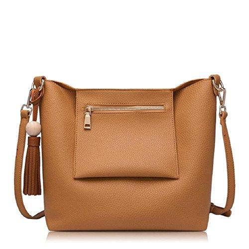 Z&N Einfache lässig Damen Umhängetasche Handtasche Outdoor-Tasche Reisetasche geeignet für alle Arten von Aussehen Hochzeit Dating Party Multi-Tasche B