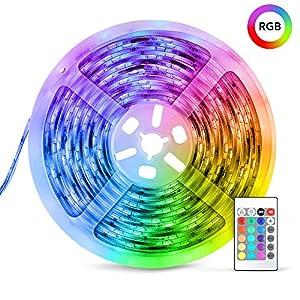 LED Strip,5m RGB mit 150 LEDs Streifen 5050 RGB TECKIN LED Leiste für die Innenbeleuchtung Küchenbett Flexible Beleuchtungsstreifen für die Inneneinrichtung von Bars