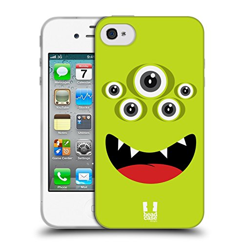 Head Case Designs Giallo Verde Jolly Monsters Cover Morbida In Gel Per Apple iPhone 7 / iPhone 8 Giallo Verde