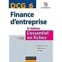 DCG 6 - Finance d'entreprise - 5e éd. - L'essentiel en fiches