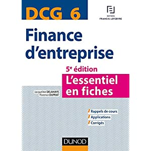158a97872db DCG 6 - Finance d entreprise - 5e éd. - L essentiel en fiches ...