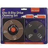 2in1 PULITORE LENTE LASER DISCO PANNO PULIZIA FLUIDO KIT PS3 XBOX ONE / 360 BLU RAY DVD LETTORE CD RIMUOVE POLVERE Impronte
