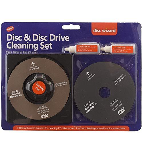 2en 1Laser Lens Cleaner Disc Tampon de Nettoyage Fluide kit PS3Xbox One/360DVD Blu-Ray Lecteur de CD Élimine la poussière Traces de Doigts