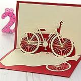 Senoow Fahrrad Reise 3D Pop Up Karte Alles Gute Zum Geburtstag Valentinstag Ostern Jubiläumsgeschenk
