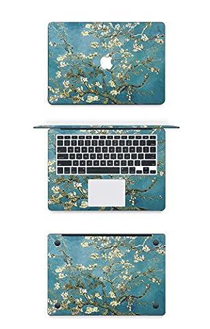 Macbook Autocollant Chickwin 13 pouces Air Macbook Apple Notebook Color Cover Modle A1369 / A1466 Notebook Shell Stickers Trois côtés (shell + poignet + fond) (C1)