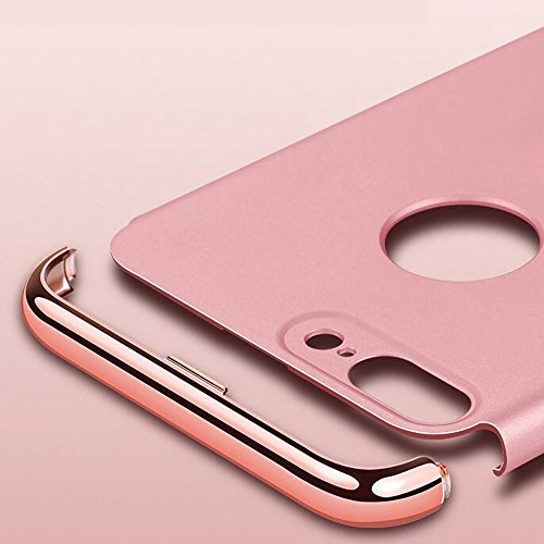 YESDA détachable Air Plastique Dure de PC Retour Bumper Couverture Cas 3 In 1 Hybrid Dur Ultra Slim Thin 0,9 mm Housse Exclusif Design Coque Étui pour iPhone Case iPhone Cover Building Pratiques de Pr Or rose