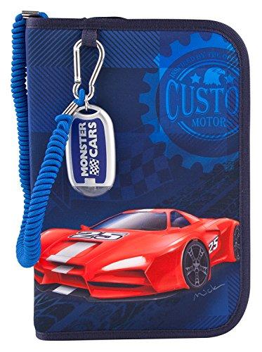 Monster Cars 6528 - Federtasche Deluxe mit Taschenlampe