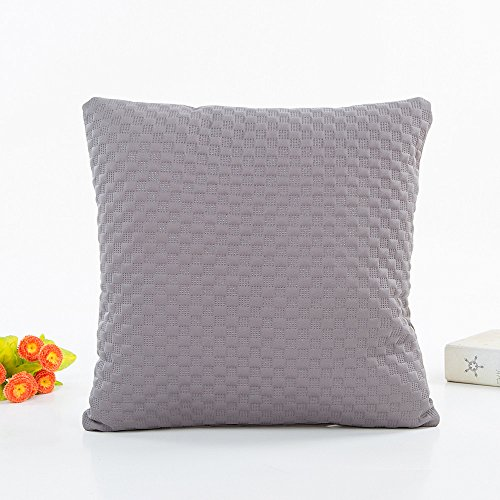FeiliandaJJ Kissenbezug Volltonfarbe Einfachheit, kissenhülle Kopfkissenbezug Pillowcase Super weich Sofakissen für Wohnzimmer Sofa Bed Home Dekoration,45x45cm (Grau)