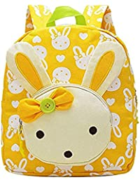 4bc7034658 Moolecole Cute Bunny Kids Nursery Canvas Backpack Toddler Boys Girls  Preschool Bookbag School Bag