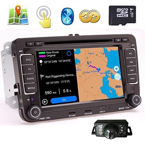 BT Pupug rétroviseur CAMERA automobile avec AUX USB SD GPS sat système navi Multimedia Head Unit Dans Dash 7 \