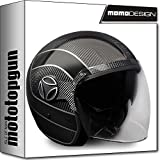 MOMO-DESIGN JET-HELM ARROW CARBON OUTLINE GRAU XL