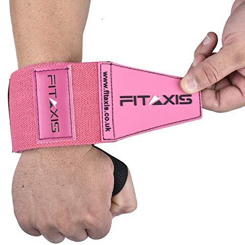 FITAXIS Fasce per i Polsi Palestra da Polso   Wrist Wraps per Sollevamento Grossi Pesi. (Pink, 24')