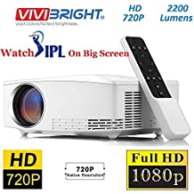 Vivibright C80 2200LM 720 P HD Home Theater Portable LED Projector with Remote Controller, Support HDMI, VGA, AV, USB Interfaces, White