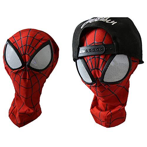 n Kostüm Cosplay Anime Kostüm Halloween Spiderman Kostüm Kopfbedeckung (Rot) L ()