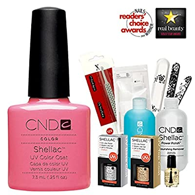 Cnd Shellac Usa Starter Kit - Gotcha Colour Starter Kit - Top & Base Coat + Essentials