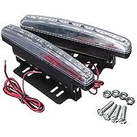 SODIAL (R) universale 2X 8 LED corrente di giorno dell'automobile diurna DRL della lampada della luce di nebbia
