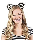 Fancy Ole - Tiger Zebra Leopard Haarreif Kostüm 3er Set, Grau