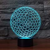 WJPDELP-YEDE 3D Led golf ball shape table lamp touch switch acrylic night light