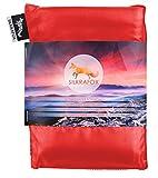 Silkrafox, sacco a pelo ultraleggero in seta artificiale, sacco lenzuolo, rosso