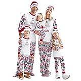 Weihnachten Familie Outfit Set Neu Nachtwäsche Schlafanzug Erwachsene Pyjama Set für Kinder Eltern-Kind-Kleidung Sleepwear Set Christmas Nachtwäsche Bekleidungssets