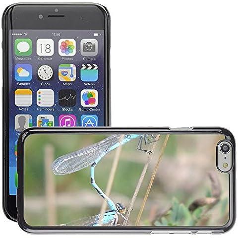 Grand Phone Cases Etui Housse Coque de Protection Cover Rigide pour // M00141266 El emparejamiento de la libélula Par // Apple iPhone 6 6S 6G PLUS
