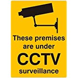 CVANU These Premises Are Under CCTV Surveillance Operation Camera Warning Sign Sticker (Pack Of 10)