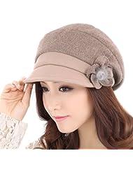La lana de lana caliente de la mujer sombrero de otoño e invierno ( Color : A , Tamaño : M )