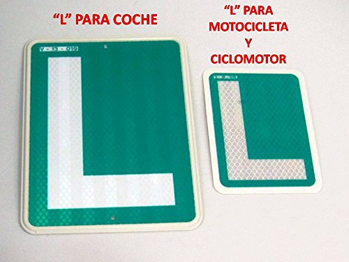 """""""L"""" CONDUCTOR NOVEL PARA """"MOTO"""" """"CICLOMOTOR"""" HOMOLOGADA V-13-019"""