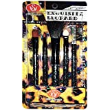 Fllik Makeup Brushes Set Of 5, Blush Brush, Sponge Brush, Eyebrow Brush, Eye Shadow Brush, Lip Brush